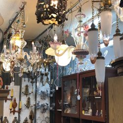 antique chandeliers and lights